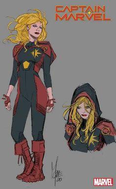 Captain Marvel Costume, Marvel Costumes, Hero Costumes, Marvel Art, Marvel Heroes, Marvel Comics, Character Modeling, Character Art, Character Design