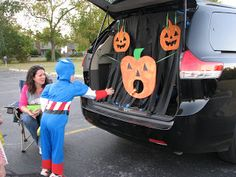Trunk or Treat Games - Each car have a small game based on their theme for the children to do at their station