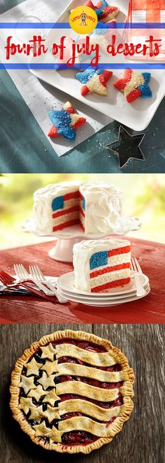 Whether you play up the natural red and blue of berries or go for sprinkles and frosting, you can show your spirit with these festive 4th of July desserts.
