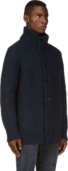 Maison Martin Margiela Patterned Knitted Wool and Mohair-Blend ...