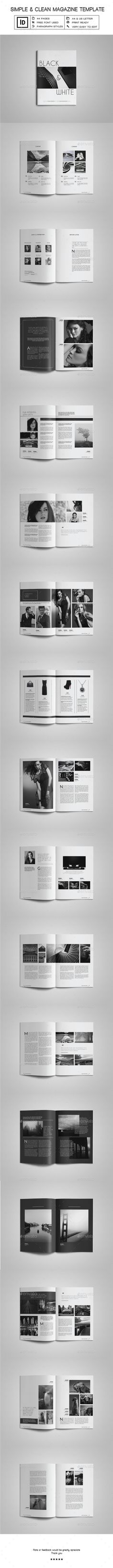 Simple & Clean Magazine Template InDesign INDD. Download here: http://graphicriver.net/item/simple-clean-magazine-template-iii/16292096?ref=ksioks