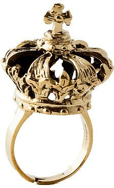 #Karmaloop                #ring                     #Down #Crown #Ring #Gold  Bow Down Crown Ring in Gold                                                   http://www.seapai.com/product.aspx?PID=620756