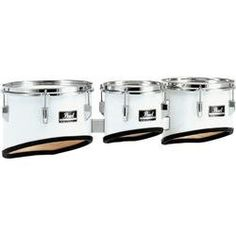 """Pearl Competitor Marching Tom Set #33 Pure White 8,10,12,13 set by Pearl. $389.99. 8"""" x 8"""", 10"""" x 9"""", 12"""" x 10"""", and 13"""" x 11"""" Competitor Marching Tom Set. 6-ply mahogany construction.. Save 55%!"""
