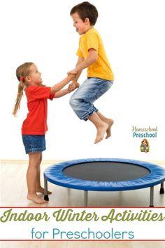 Here are ten indoor activities your preschoolers are sure to love on a cold winter afternoon. | homeschoolpreschool.net