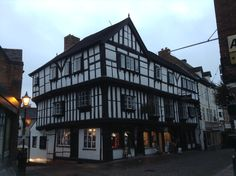 Abbot's House in Butcher Row . It is one of the oldest timber framed houses in Shrewsbury thought to be built around 1450.