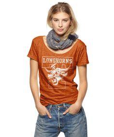 Texas Longhorns Scoop Neck Tee