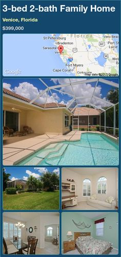 3-bed 2-bath Family Home in Venice, Florida ►$399,000 #PropertyForSale #RealEstate #Florida http://florida-magic.com/properties/86346-family-home-for-sale-in-venice-florida-with-3-bedroom-2-bathroom