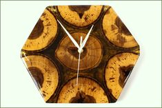 Clocks – Unique wall cklock made of wood and resin – a unique product by PieceOfNature on DaWanda