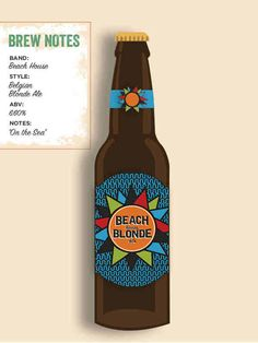 Beach House Beer Label
