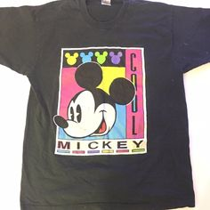 1cb187cbd566 Very Rare Vintage 80s Mickey Mouse Single Stitched T SIZE: - Depop Roller  Disco,