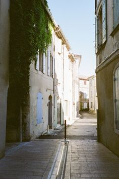 Quiet side streets in the France.