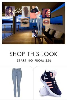 """""""board walk"""" by lauraissweetandawesome on Polyvore featuring beauty, Bourne, Topshop, adidas and NYX"""