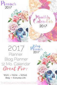 Planners to organize your life!