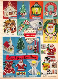 Dime Store Ad featuring Christmas decorations. 1950s