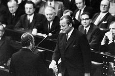 Jahre, Willy, Brandt, Bilder,, Ikonen, Sieg, Brandt, Bundestag:, Kanzler, April