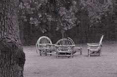 Rustic Wood Patio Furniture  Like, repin, share Thanks!