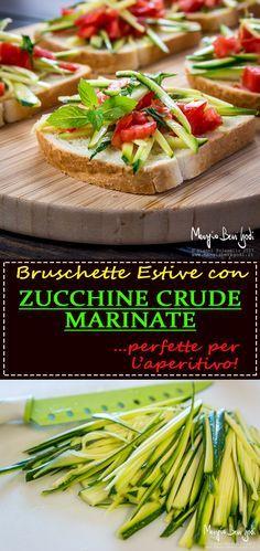 Bruschette estive con zucchine crude marinate