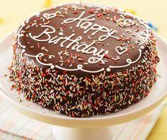 Birthdaycake with sprinkles