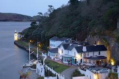 View from the village down to Portmeirion Hotel Wedding Venue Wales