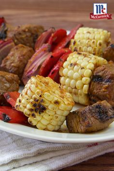 Gluten-Free Taco Seasoning Mix adds the flavors of the Southwest to a marinade for grilled steak kabobs. Use fresh corn at the peak of its season so it grills up sweet and tender, making it a perfect summer dish.