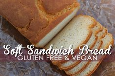 With this Gluten Free Vegan Bread Recipe you'll have Soft Sandwich Bread that's delicious & east to make. No Eggs or Dairy!
