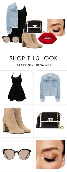 """boxing day shopping"" by emmyjoe222 on Polyvore featuring WithChic, rag & bone, Yves Saint Laurent, Chanel, Balenciaga and Avon"