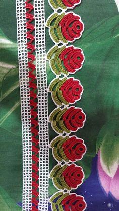 Thread Crochet, Love Crochet, Crochet Doilies, Crochet Flowers, Crochet Lace, Baby Knitting Patterns, Crochet Patterns, Hand Embroidery Dress, Crochet Flower Tutorial