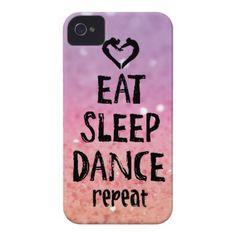 EatSleepDance Glitter iPhone Case
