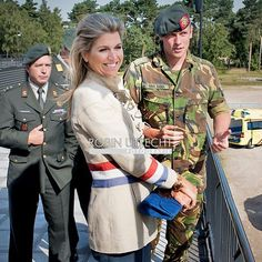 Queen Maxima visits Military National Trainingcentre CBRN in Vught. Sept. 10, 2015.