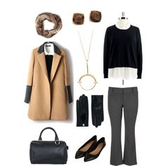 """""""Clean and classic lines. Plus size style."""" by hamtowntracey on Polyvore"""