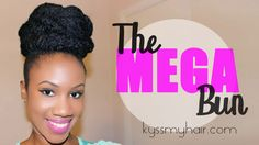 kanekalon hair updo | The Mega & Saturn Bun | Special Occasion Updos on Natural Hair