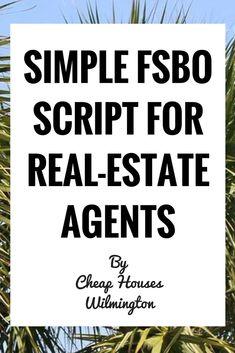 FSBO Script For Real-Estate Agents