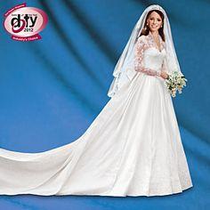 Kate Middleton Porcelain Bride Doll