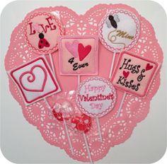In The Hoop :: Valentine Sucker Holders 4x4 - Embroidery Garden In the Hoop Machine Embroidery Designs
