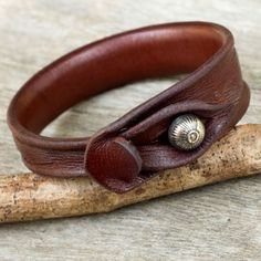 Triple Twist Unique Polished Brown Leather Handcrafted Artisan Wristband Wrap Bracelet (Thailand) | Overstock.com Shopping - The Best Deals on Bracelets