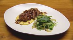 Miso Maple Glazed Chicken with sweet corn puree - from masterchef contestant 2015