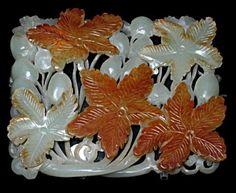 Jade Ornament Grapes  Jin Dynasty   Shanghai Museum