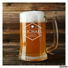 Personalized 16 Ounce Beer Mug. Cool gift ideas.
