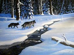 On The Prowl by Wilf Warkentin in the FASO Daily Art Show