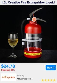 1.5L Creative Fire Extinguisher Liquid Drink Dispenser Mini Beer Wine Water Bar Barrels Tools Machine for Home Hotel KTV DJQ02 * Pub Date: 17:40 Apr 11 2017