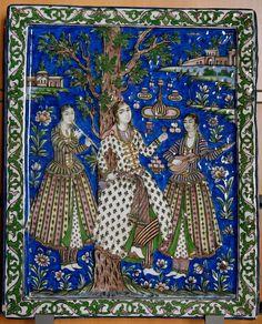 Qajar Art Tile. Persia / Iran