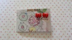 red button bow post earrings £2.20