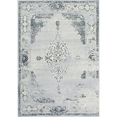 nuLOOM Traditional Abstract Vintage Light Grey Rug (9' x 12') | Overstock.com Shopping - The Best Deals on 7x9 - 10x14 Rugs