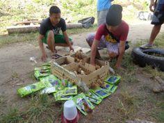 Distributing seeds and chicks. Giving Hands, Just Giving, Garden Seeds, Food, Essen, Meals, Yemek, Eten