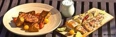 Kochmonster: Lachs auf der Grillplanke mit Cranberry-Süßkartoffeln - http://weinblog.belvini.de/lachs-auf-der-grillplanke