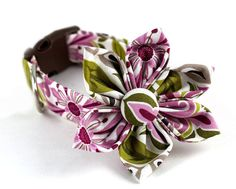 Dog CollarBella FioreYour Choice of Size by BowWowCouture on Etsy, $19.95
