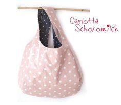 Badetasche, Shopper, große Umhängetasche von ***Carlotta Schokomilch*** auf DaWanda.com