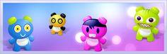 """6 icones """"Art Toys"""" de couleur, tailles 16×16, 24×24, 48×48 et 128×128."""