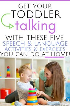 How to Get Your Toddler Talking | Get your toddler to talk using these 5 simple expressive language strategies! These speech & language activities are perfect for 12 month old's through preschoolers. Easy speech and language activities you can do at home to improve your toddler's expressive language. #language #speech #talking #toddler #tips #parenting #earlyliteracy #howto #expressive #talk #easy #preschooler #12monthold #twoyearold #threeyearold #oneyearold