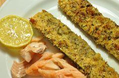 Zucchini knusprig, mit Parmesan, Petersilie und Minze